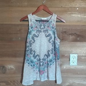 Ginger G Multi colored Paisley Tank Top L